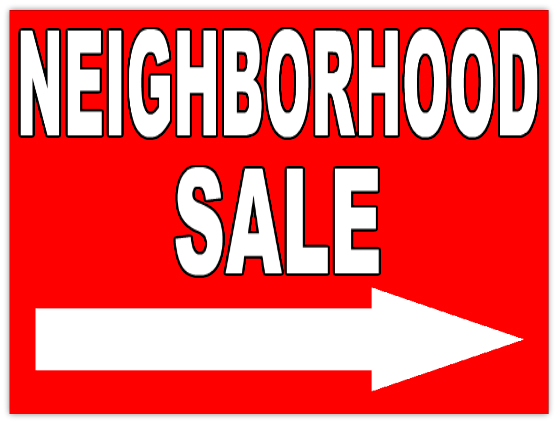 Annual Neighborhood Garage Sale June 3rd and 4th